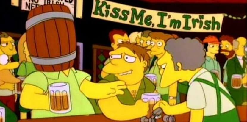 Dzień świętego PAtryka w Simpsonach